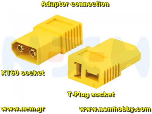 Adapter XT60 Male to T-Plug Female