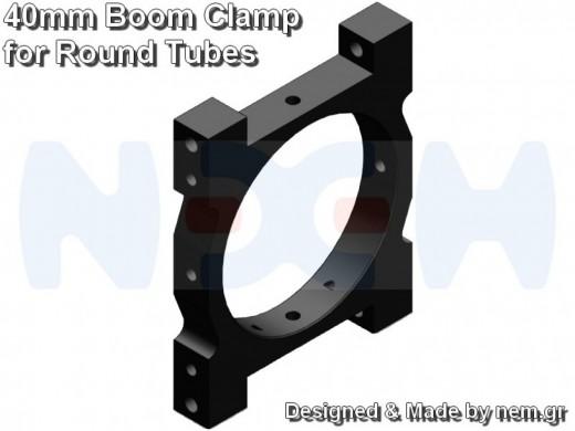 CNC Tube Clamp 40mm CNC AL -Black Matte Anodized