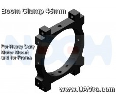 CNC Tube Clamp 45mm CNC AL -Black Matte Anodized