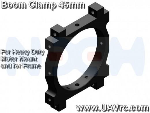 CNC Tube Clamp 45mm CNC AL -Black Matte Anodized