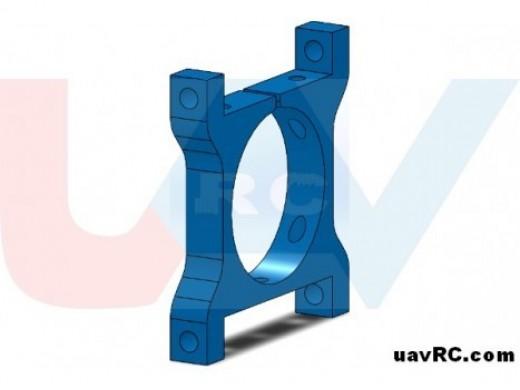 CNC Tube Clamp 25mm Metal -Blue