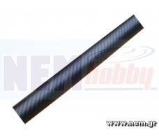 3K Carbon Tube 30x28mm Matt Finish -1mtr
