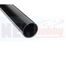3K Carbon Tube 25x23mm Glossy Finish -1mtr
