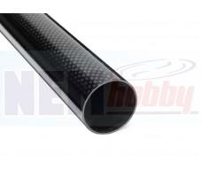 3K Carbon Tube 35x32mm Glossy Finish -1mtr