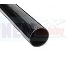 3K Carbon Tube 40x37mm Glossy Finish -1mtr
