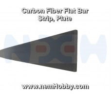 Carbon Fiber Flat Bar 6 x 0.8 x 1000mm