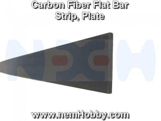 Carbon Fiber Flat Bar 6 x 0.8 x 1000mm