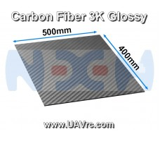 Carbon Fiber 500x400 x0.2mm 3K Plate Panel Sheet, Plain Weave, Matte Surface