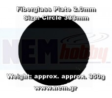 Fiberglass Plate 2.0mm -F333mm Plain Weave -Black