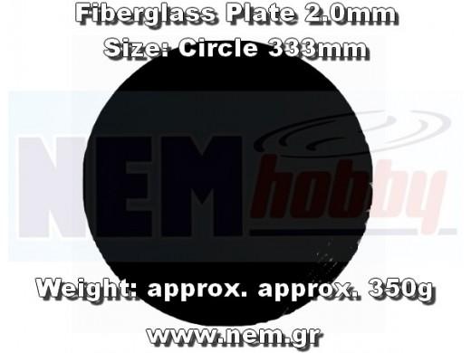 Fiberglass Plate 2.0mm -F333mm Plain Weave -Black