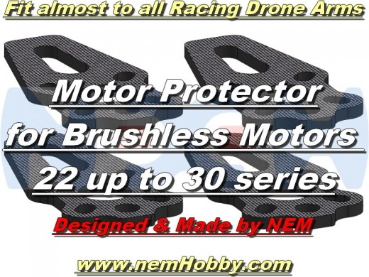 Racing Drone Carbon Motor Protector Plate x4pcs -Fit to BL 22, 30 series