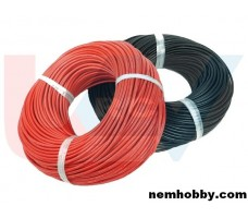 Silicone cable 10AWG x1mtr. -Red