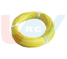 Silicone cable 14AWG x1mtr. -Yellow