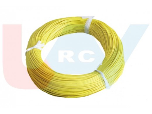 Silicone cable 16AWG x1mtr. -Yellow