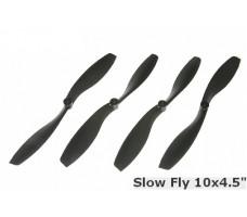 Slow-Fly 10x4.5 Props set CW+CCW (4pcs) -Black