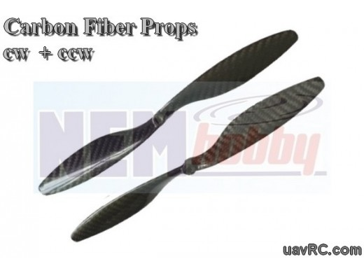 Carbon Fiber 11x4.7 CW+CCW -Set